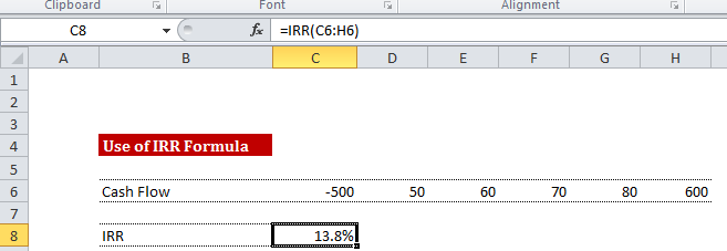 IRR Calculation